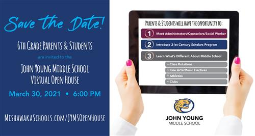 jyms 6th grade open house march 30, 2021 at 6PM
