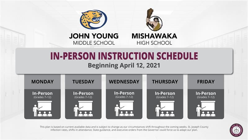 in-person instruction schedule
