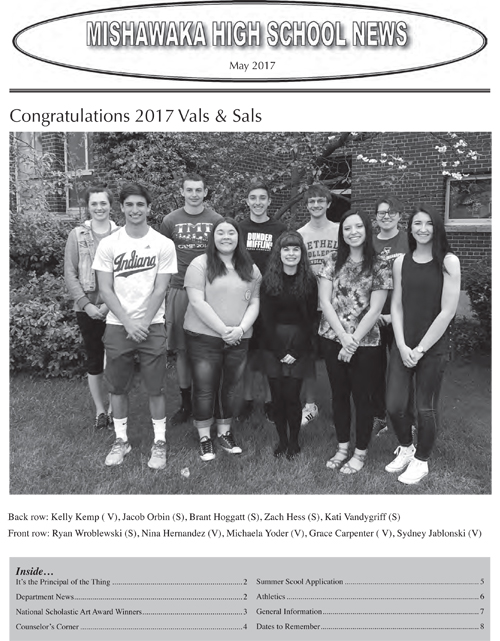 MHS News May 2017 Cover Page