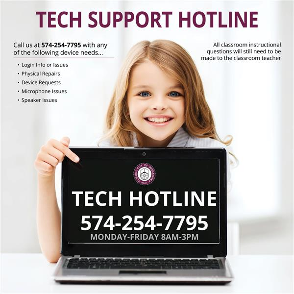 tech hotline 574-254-7795