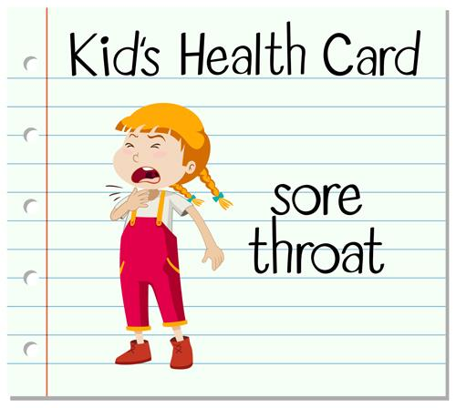 student health card sore throat