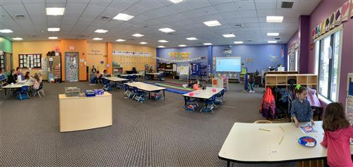 lab-k kindergarten classroom at bethel college