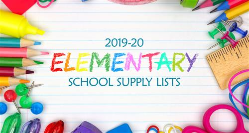 2019-20 elementary school supply lists